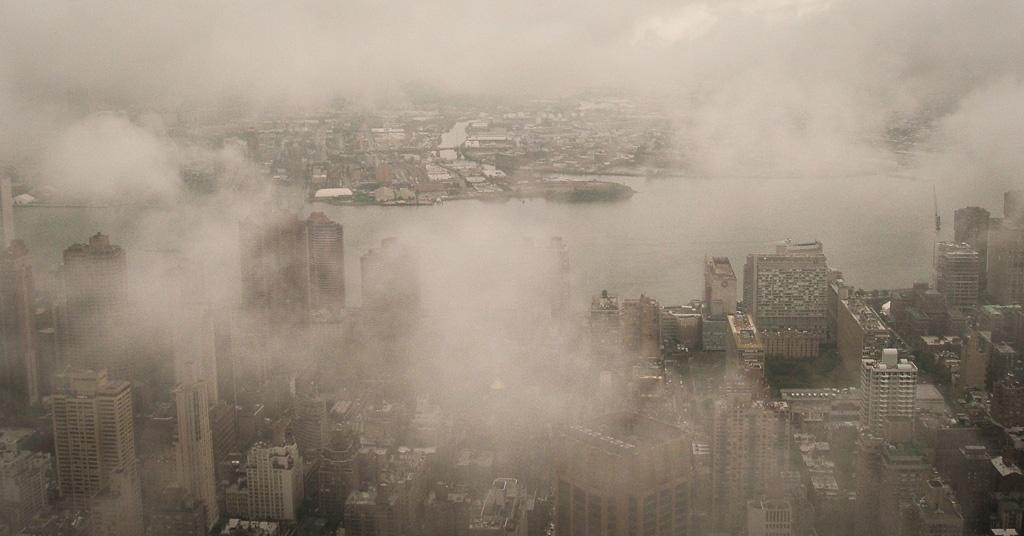 Ausblick bei Nebel vom Empire State Building