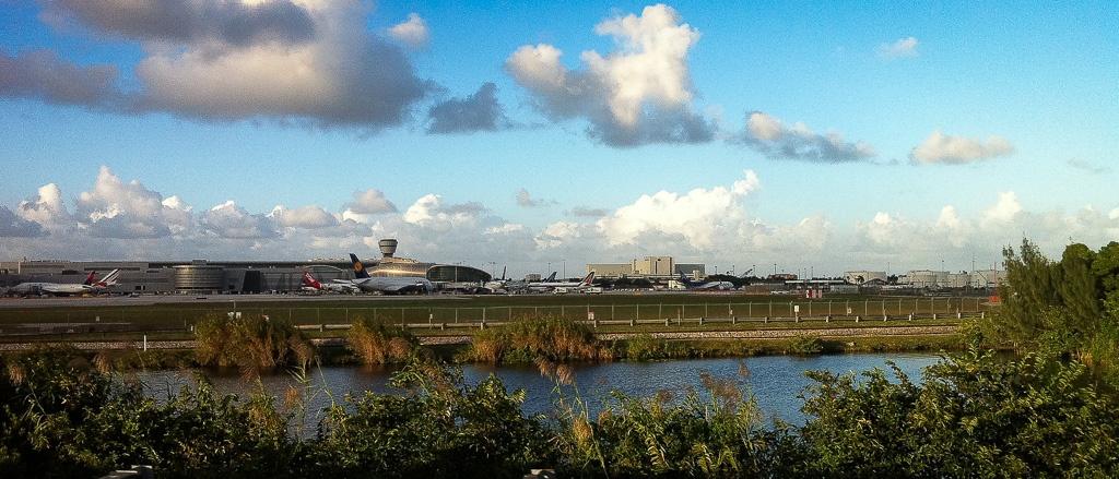 A380 am Apron von Miami