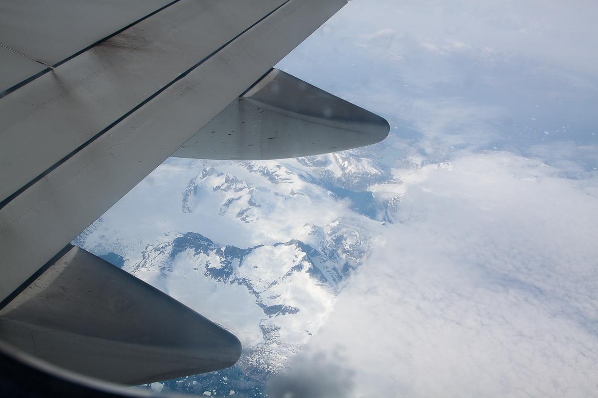 Grönland unter Wolken