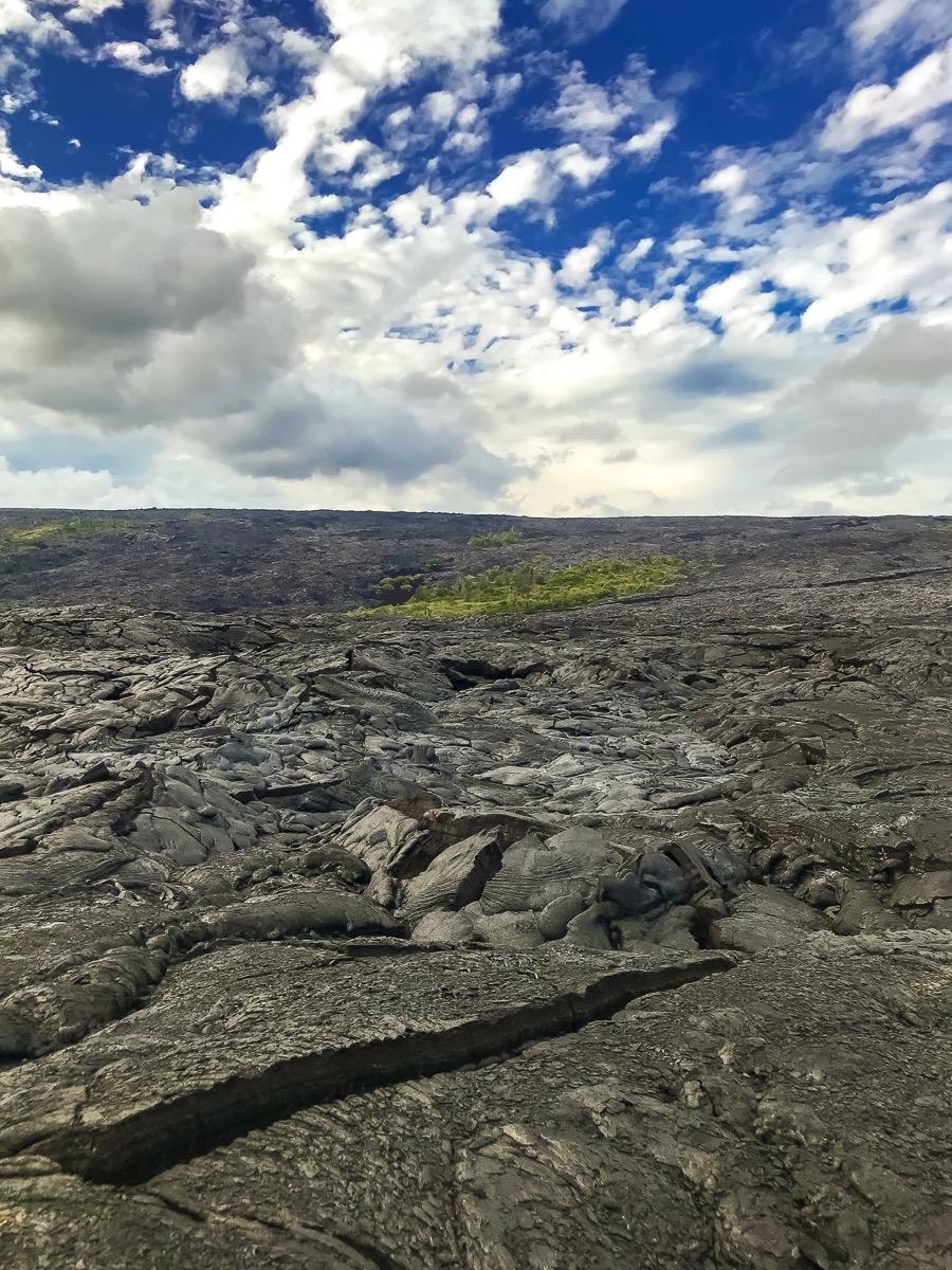 Lava Wanderung über einen erstarrten Flow von 2010