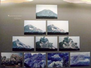 Fotoserie des Ausbruchs