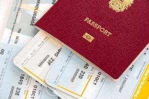 Reisepass und Boarding Karte
