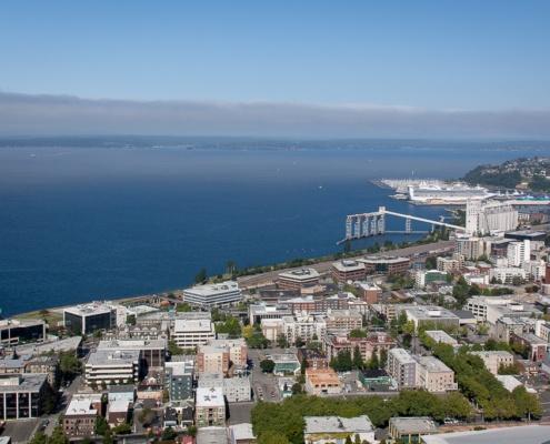Blick auf den Puget Sound