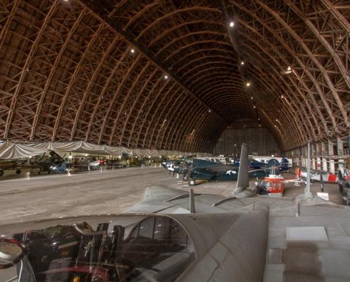Blick in den Hangar