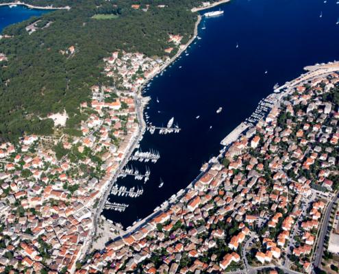 Mali Losinj Kroatien Luftaufnahme