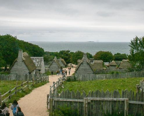 Blick in die Bucht von Plymouth