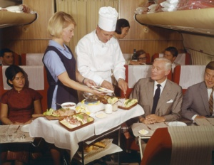 Service im Jahr 1969 an Bord einer SAS DC-8