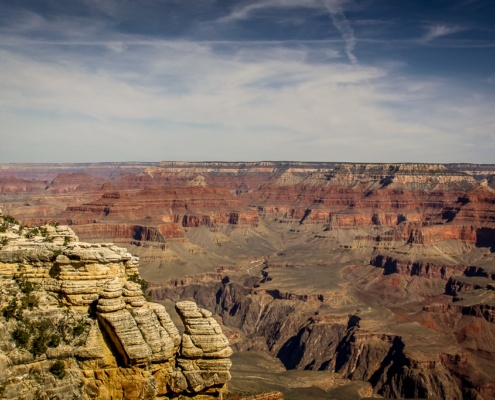 Ausblick in die Canyon-Landschaft