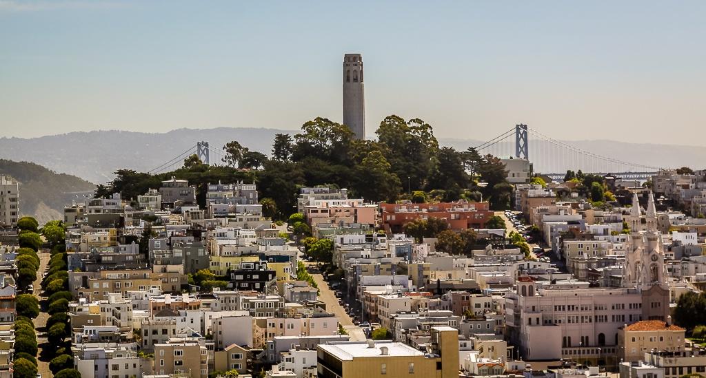 Blick auf den Coit Tower
