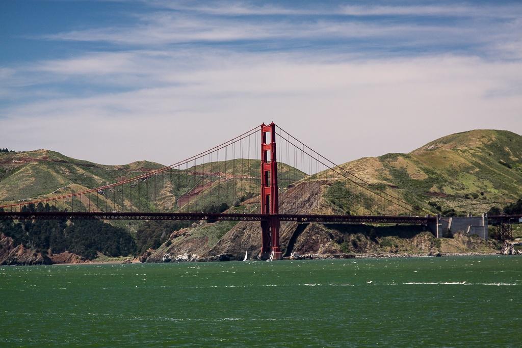 Die Golden Gate Bridge...