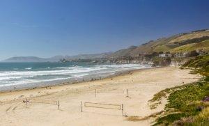 Blick auf den Strand von Santa Barbara